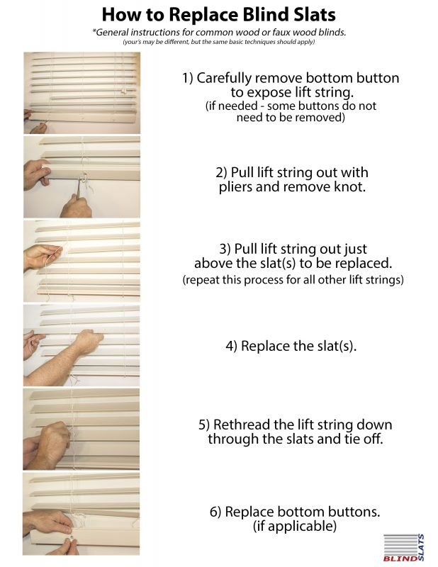 how to replace blind slats