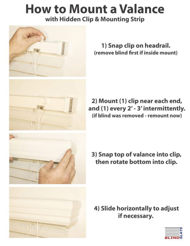 how to mount a valance with a hidden clip and mounting strip