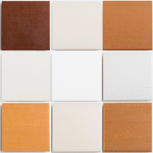 blind slat color samples collage