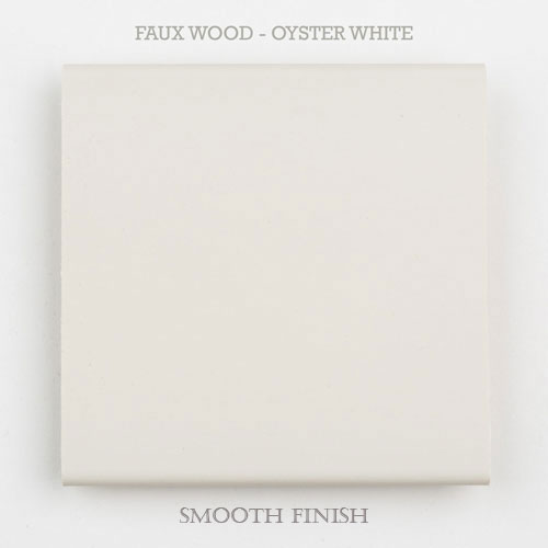 faux wood slat oyster white