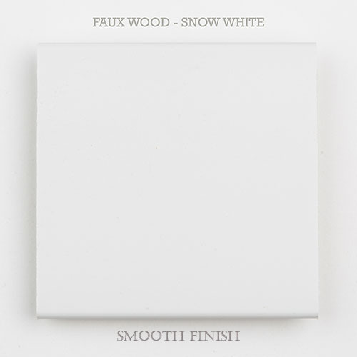 faux wood slat snow white