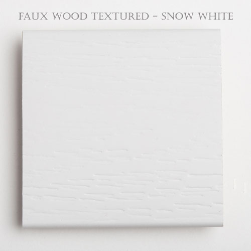 2 inch textured faux wood blind slat snow white