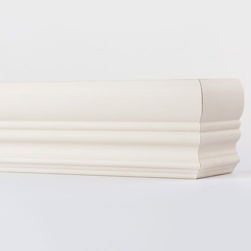 three and a quarter inch royal faux wood valance oyster white