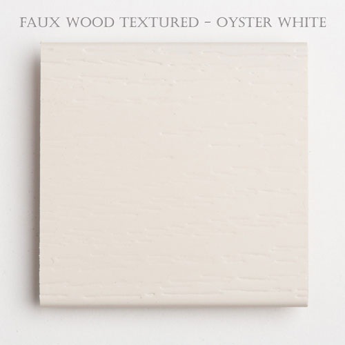2 inch textured faux wood blind slat oyster white