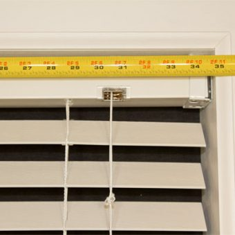 how to measure for a blind valance inside mount