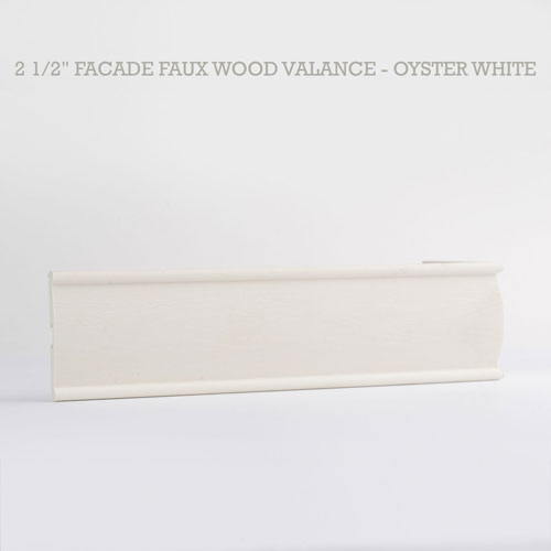 2 1 2 Quot Faux Wood Blind Woodgrain Valance From 8 92 Inches