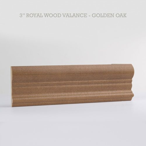 royal wood blind valance golden oak