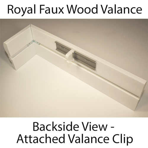 Royal Faux Wood Blind Valance Made To Order From 8 92 Inches