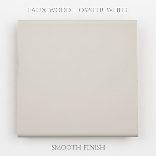 Faux Wood Smooth – Oyster White