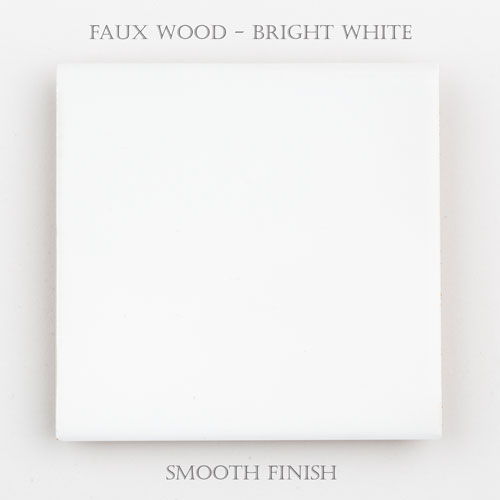 Faux Wood Smooth – Bright White
