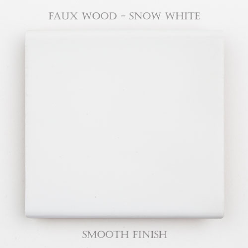 Faux Wood Smooth – Snow White