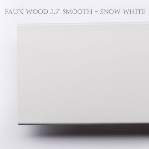 "faux wood blind slats 2 1/2"" smooth finish"