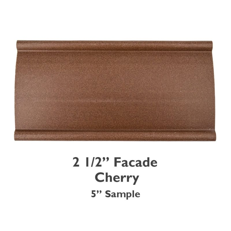 2 1/2″ Facade Faux Wood Smooth – Cherry