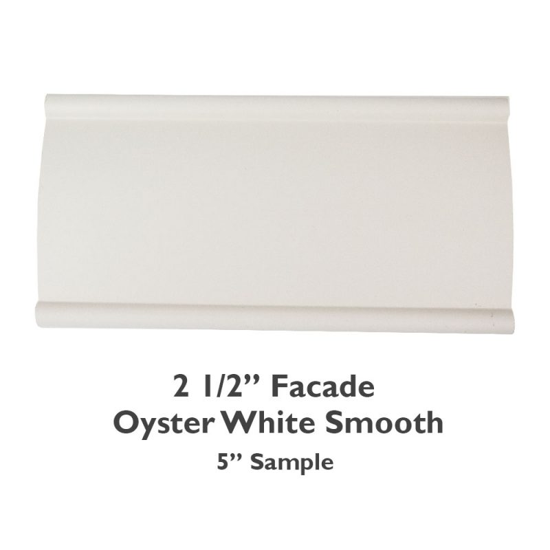2 1/2″ Facade Faux Wood Smooth – Oyster White
