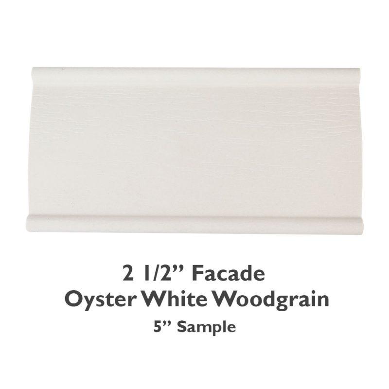 2 1/2″ Facade Faux Wood Woodgrain – Oyster White