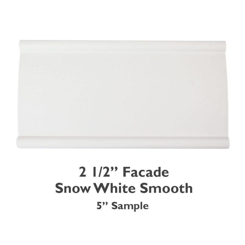 2 1/2″ Facade Faux Wood Smooth – Snow White