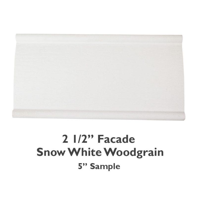 2 1/2″ Facade Faux Wood Woodgrain – Snow White