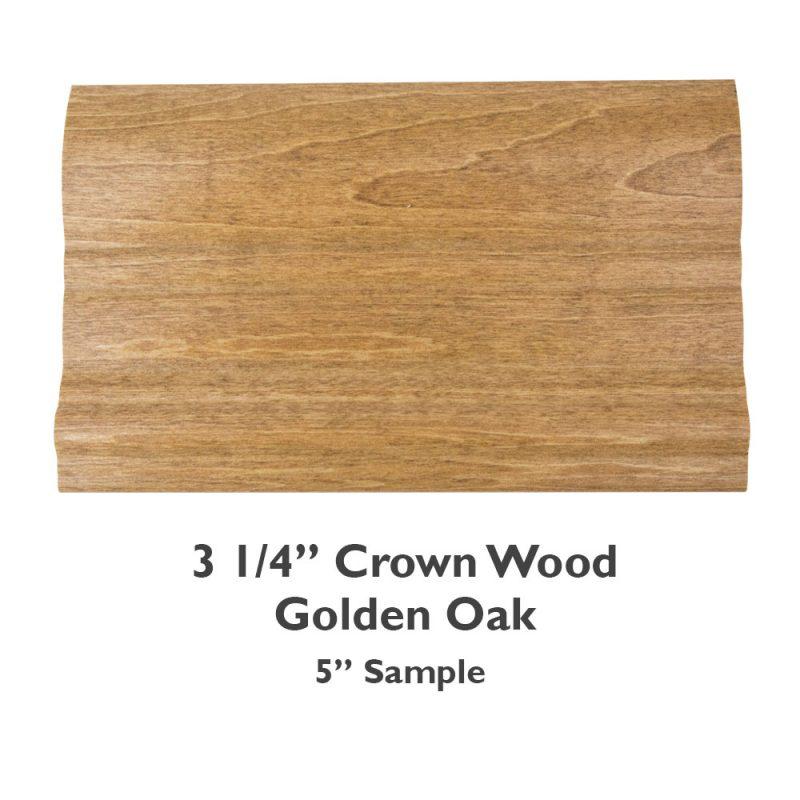 3 1/4″ Crown Wood – Golden Oak