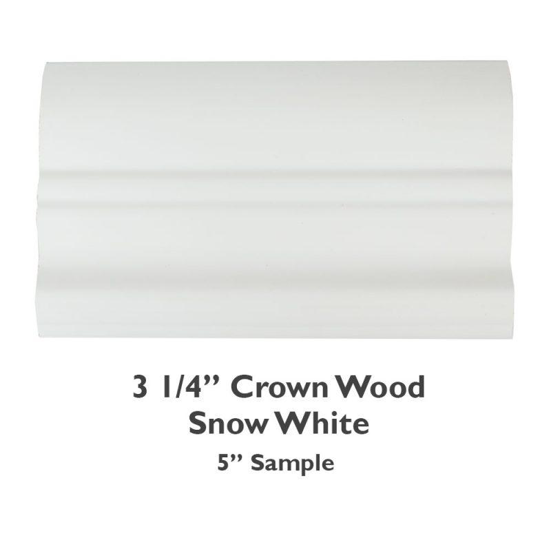 3 1/4″ Crown Wood – Snow White