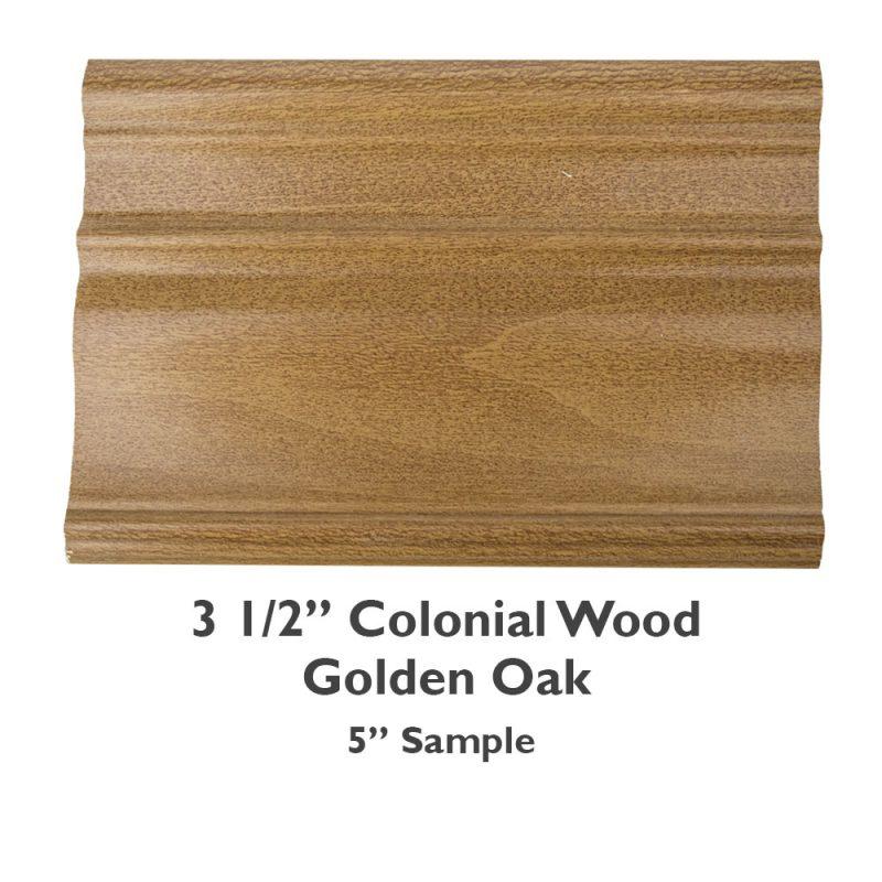 3 1/2″ Colonial Wood – Golden Oak